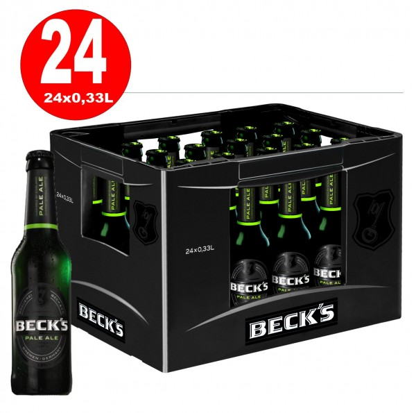 24x Becks Pale Ale 0.33l -6,3% vol. in Originalkiste MEHRWEG