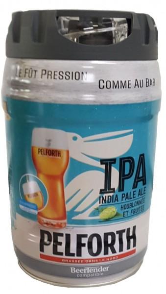 Pelforth IPA India Pale Ale Hopfen und Früchte 5 Liter Partyfass 5,9% vol. EINWEG