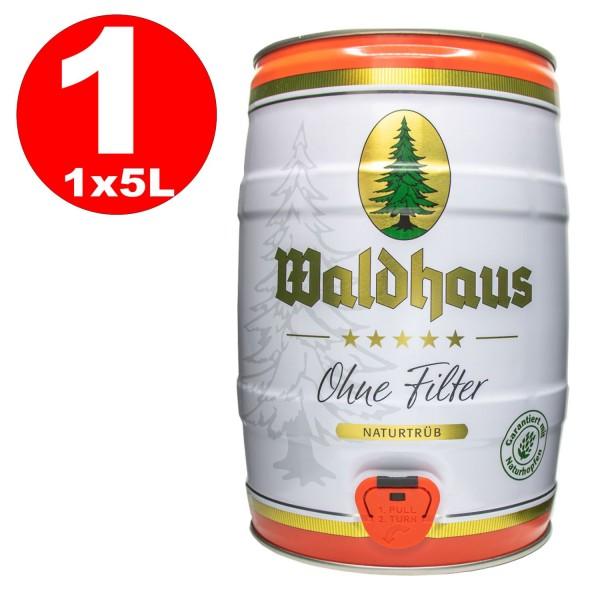 Waldhaus ohne Filter Naturtrüb 5 L Partyfass 5,6 % vol. Das Männerbier