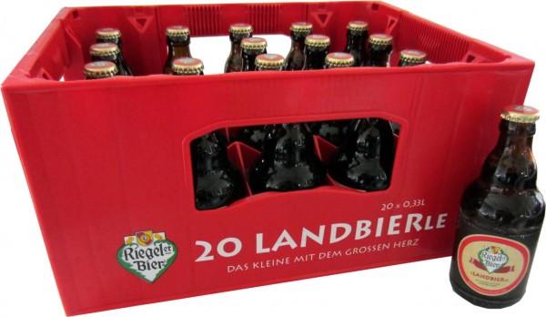 20 x Riegeler Landbier Steiniflaschen 0,33L 5,4% vol. Originalkiste MEHRWEG