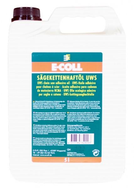 Kettensägeöl, Sägekettenhaftöl UWS E-Coll 5 l Kanne