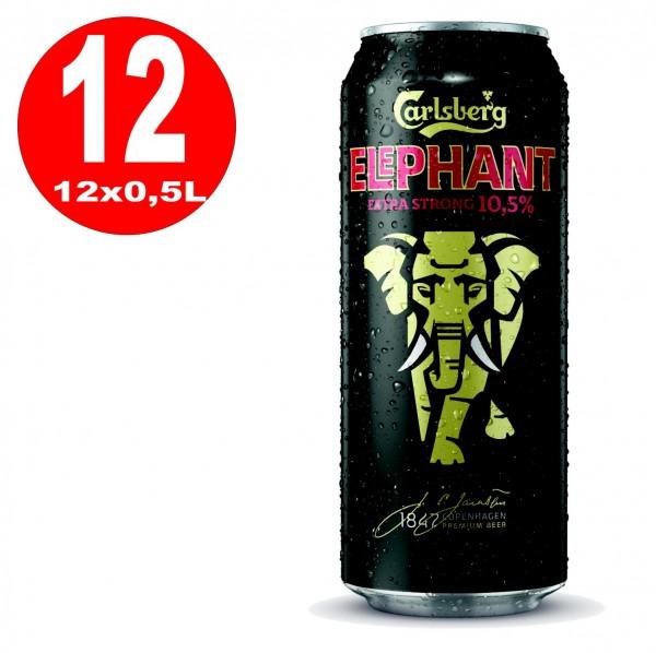 12x 0,5L Dosen Carlsberg Elephant Beer extra strong Starkbier 10.5% Vol EINWEG
