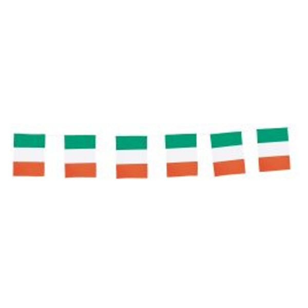 Fahnenkette Italien 5 m lang, mit 20 Papierfahnen, 12x24 cm