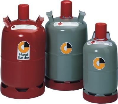 Propan-Gas Nutzungsflasche, grau 33Kg, leere Gasflasche