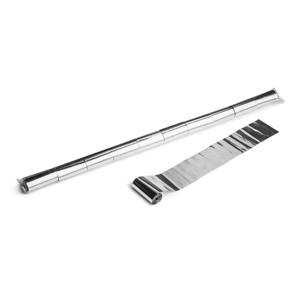 Magicfx Metallic streamers 10m x 5cm - Silver