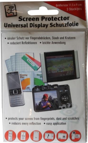 Universal Display Schutzfolie 11,5 x 9 cm Packung mit 3 Stück