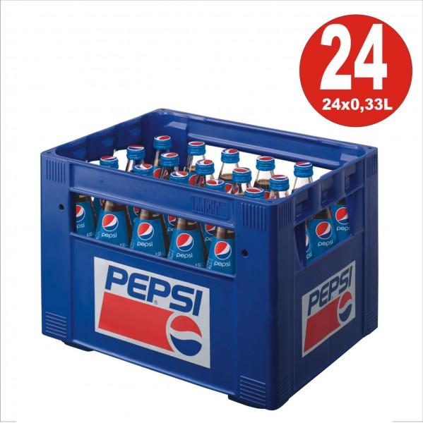 24 x Pepsi-Cola 0,33L Glasflasche in Originalkiste MEHRWEG