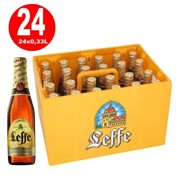 24 x Leffe blond Klosterbier 0,33 Originalkiste 6,6% Vol. alc. MEHRWEG