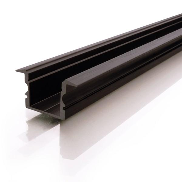 Reprofil Profil ET-02-12 hoch 2m schwarz matt eloxiert