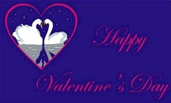 Fahne Happy Valentines 90 x150 cm