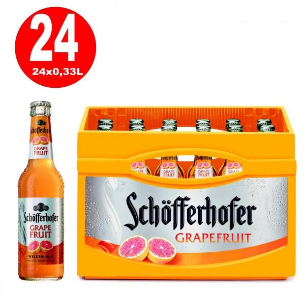 24 x Schöfferhofer Weizen-Mix Grapefruit 0,33 L 2,5% vol. Originalkiste MEHRWEG