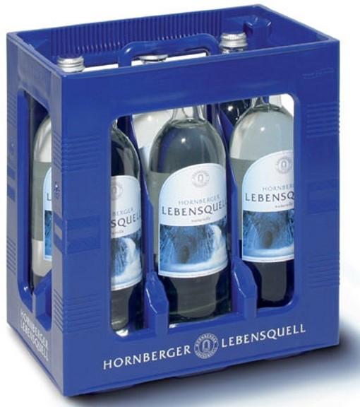 Hornberger Lebensquell naturelle 6 x 1Liter stilles Wasser Glasflasche Originalkiste MEHRWEG