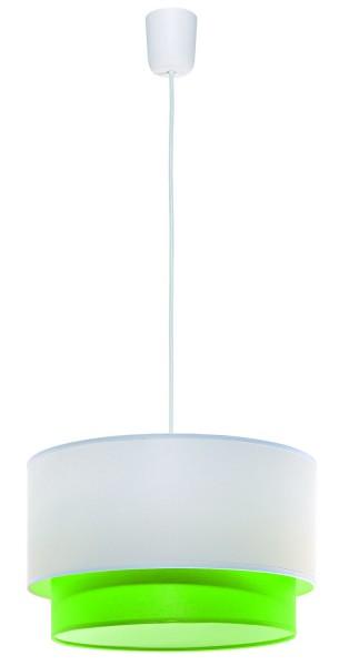 508/E - Lampex Pendelleuchte Lida grün PVC/fabric 80 x 35 cm