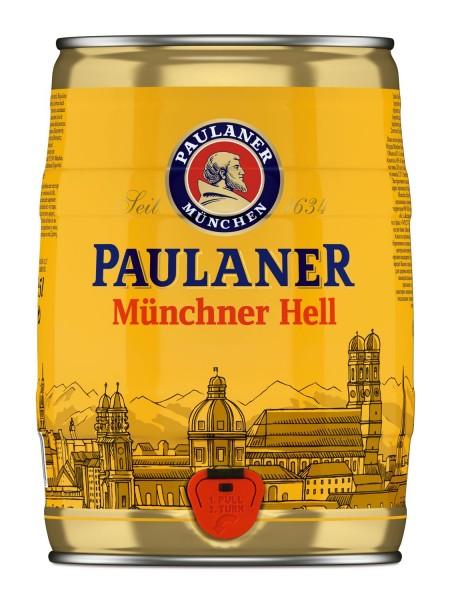 Paulaner Münchner Hell 5 Liter 4,9% vol Partyfass EINWEG