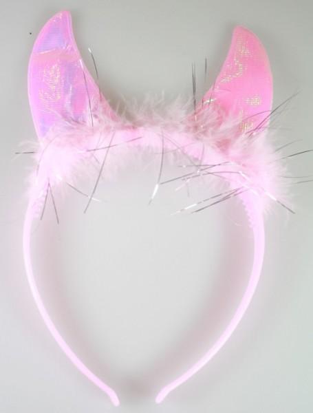 Haarreif rosa, mit Katzenohren