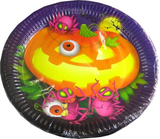 Halloween Papier Dekoteller 8 St. Packung