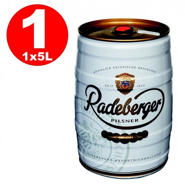 Radeberger Pilsener 5 Liter Partyfass 4,8% vol - EINWEG