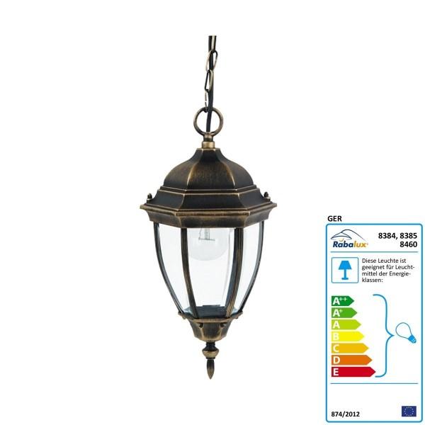 Ersatzglas für Rabalux Aula Pendel Toronto Farbe: Goldantik Durchmesser: 205