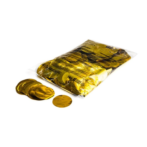 Magicfx Metallic confetti rounds Ø 55mm - Gold