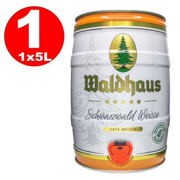 Waldhaus Schwarzwald Weisse Hefe-Weizen 5 L Partyfass 5,6 % vol.
