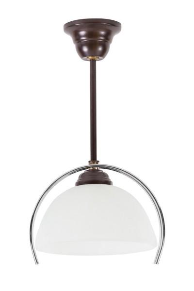 264/Z - Lampex Pendelleuchte metal/glass 33 x 22 cm