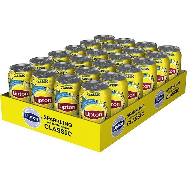 Lipton Sparkling Classic Eistee mit Kohlensäure 24 x 0,33L Dose Einweg