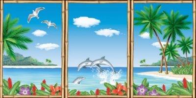 Dekokulisse Scene Setter ...Hawaii ...Fensterblick