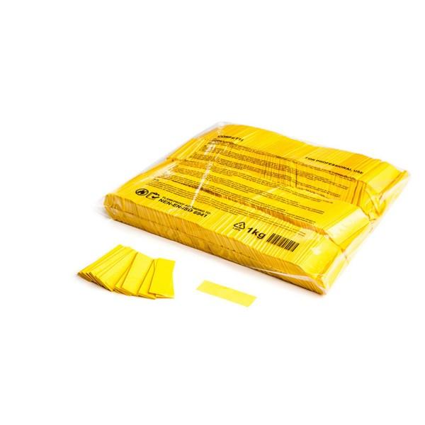MAGICFX Slowfall confetti rectangles 55x17mm - Yellow