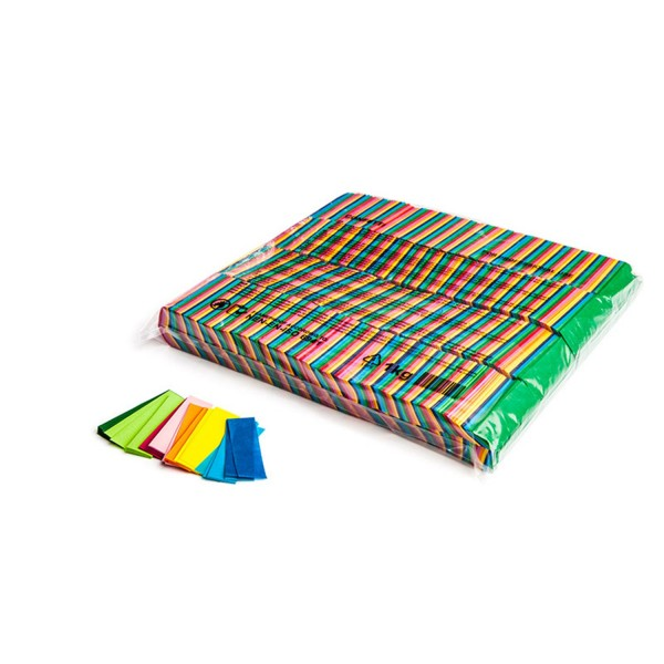 MAGICFX Slowfall confetti rectangles 55x17mm - Multicolour Konfetti rechteckig