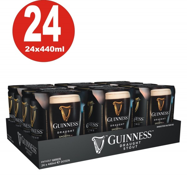 Guinness Draught Can 24x440 ml Dosen 4,2% Vol.alc._EINWEG