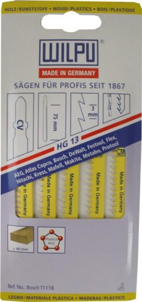 Stichsägeblätter Hg 13 A. 5 Stk.
