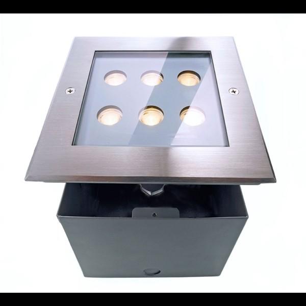 Kapego LED Bodeneinbauleuchte 230V 6x1W WW 30°› IP67