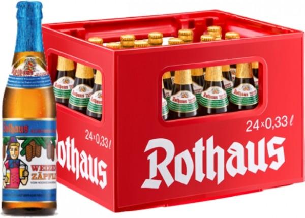 24 x Rothaus Hefeweizen Alkoholfrei 0,33 L Originalkiste Weizenzäpfle MEHRWEG