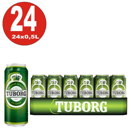 24x 0,5L Dosen Tuborg Pilsener aus Dänemark 4,9% Vol.-_EINWEG