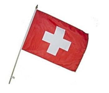 Fahne an Holzstab Schweiz
