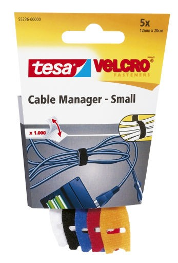 Cable Manager 12 mm : 20 cm bunt