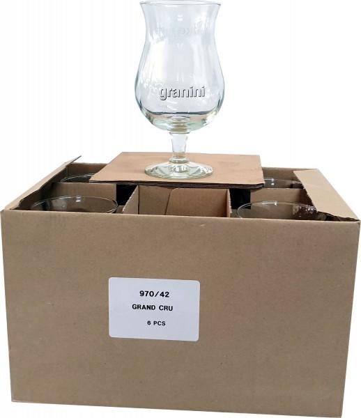 6 Granini-Gläser 0,4 Liter