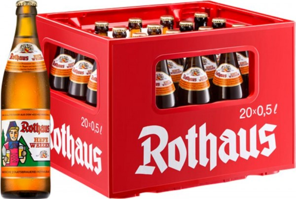 20 x Rothaus Hefeweizen 0,5 L 5,4% vol. Originalkiste