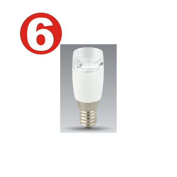 6 x Betterlighting - Leuchtmittel LED - BT6683 - E14 LED Dekolampe 1,4W 90lm
