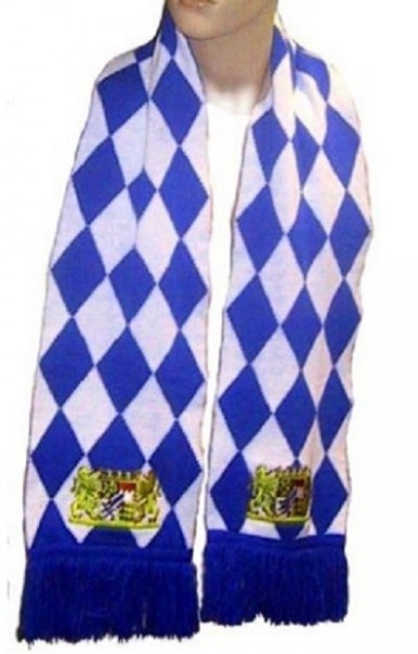 Bayernschal Fan Schal 180 x 21 cm schwere Qualität, bestickte Wappen