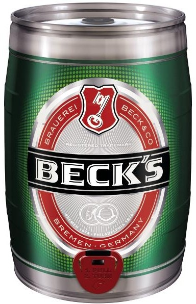 Becks Pils 5 Liter Partyfass 4,9 % vol