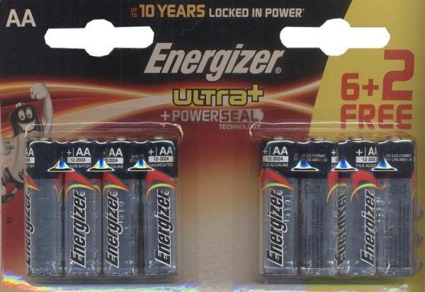 Energizer Ultra AA LR6 Alkaline 8 Stück