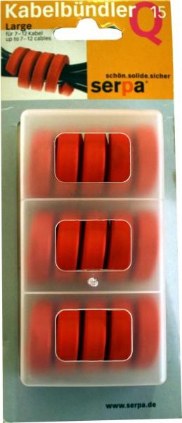 Serpa Kabelbündler Q15 Large für 7-12 Kabel rot