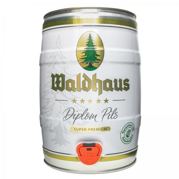 2 x Waldhaus diplom pils 5 Liter 4,9% vol. Partyfass