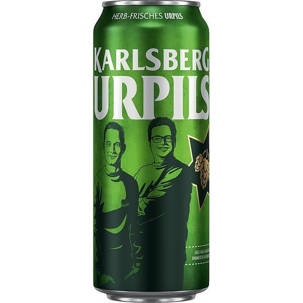 2 x Karlsberg Urpils 24x0,5L Dosen 4,8 % Vol_ EINWEG