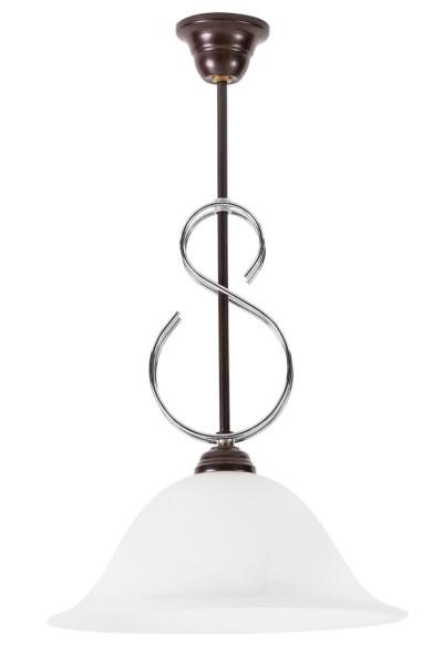265/Z - Lampex Pendelleuchte metal/glass 50 x 30 cm