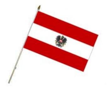 Fahne an Holzstab Österreich