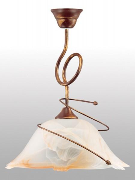 005/1 - Lampex Pendelleuchte Sanki 1 metal/glass 43 x 36 cm