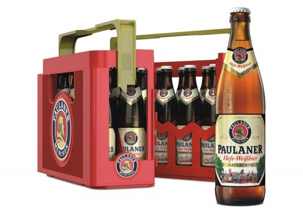 20 x Paulaner Hefeweissbier naturtrüb 0,5 L - 5,5% Alkohol Originalkiste MEHRWEG