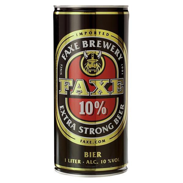 12 x Faxe Extra strong 10% vol. Starkbier aus Dänemark 1 Liter Dose